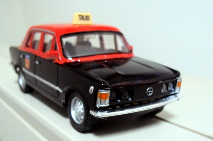 miniaturas a escala pt modified scale models fiat 125 diesel taxi paris g7 1 43. Black Bedroom Furniture Sets. Home Design Ideas