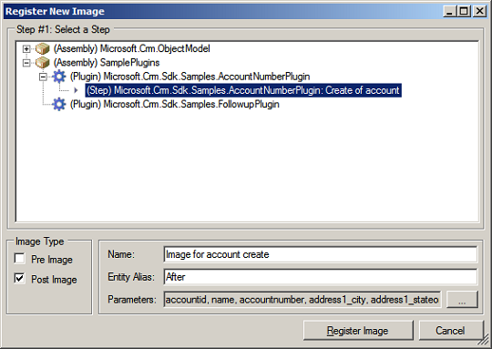 Register New Image Dialog