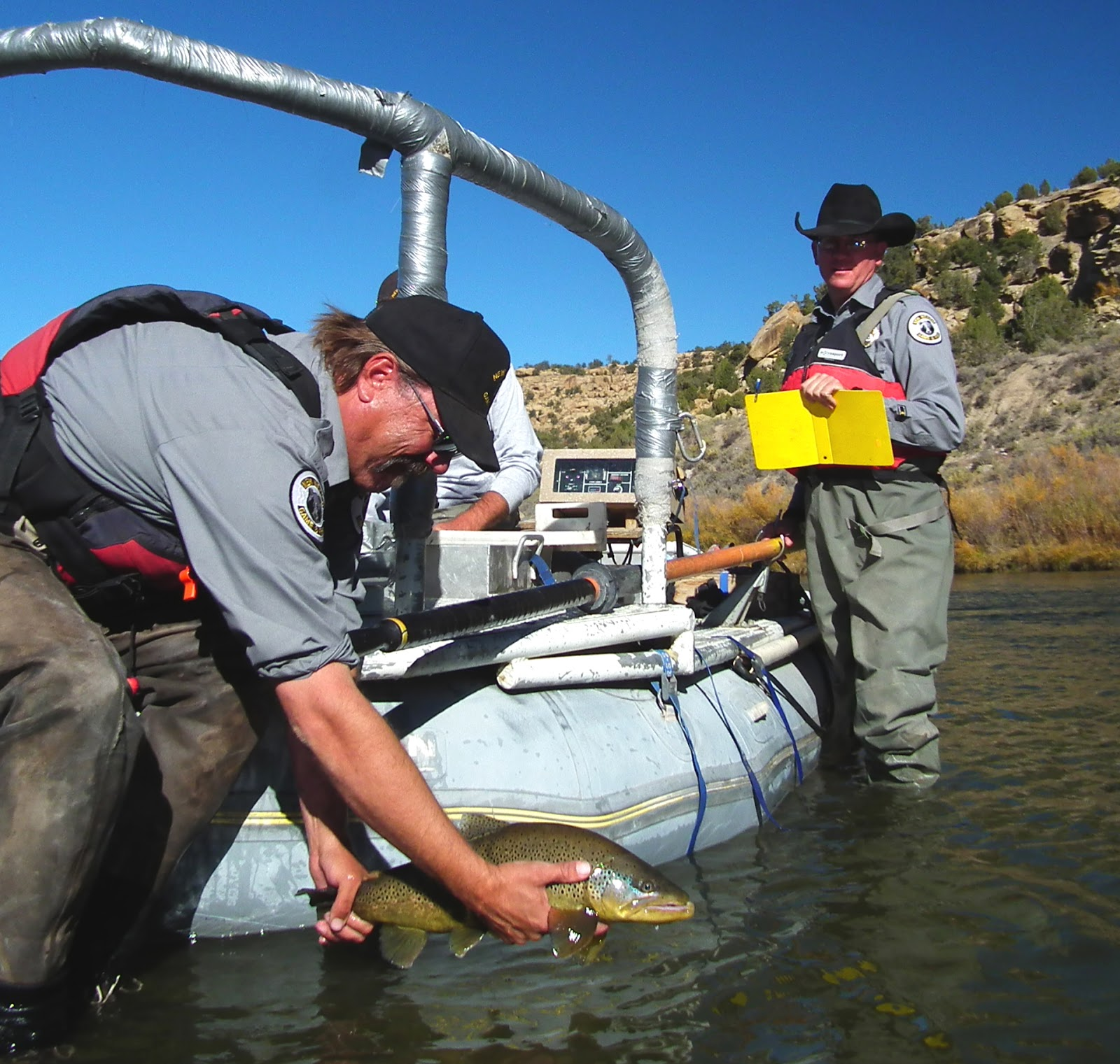 Licensed to fish nm game fish officers take stock of for Hansen dam fishing