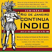 """Seminário """"O Rio Continua Índio"""""""
