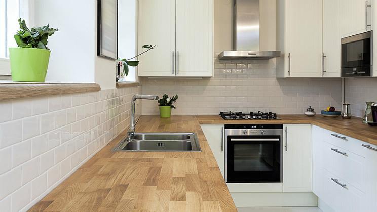 Design your home Wszytsko o drewnianych blatach w kuchni -> Biala Kuchnia I Drewniane Blaty
