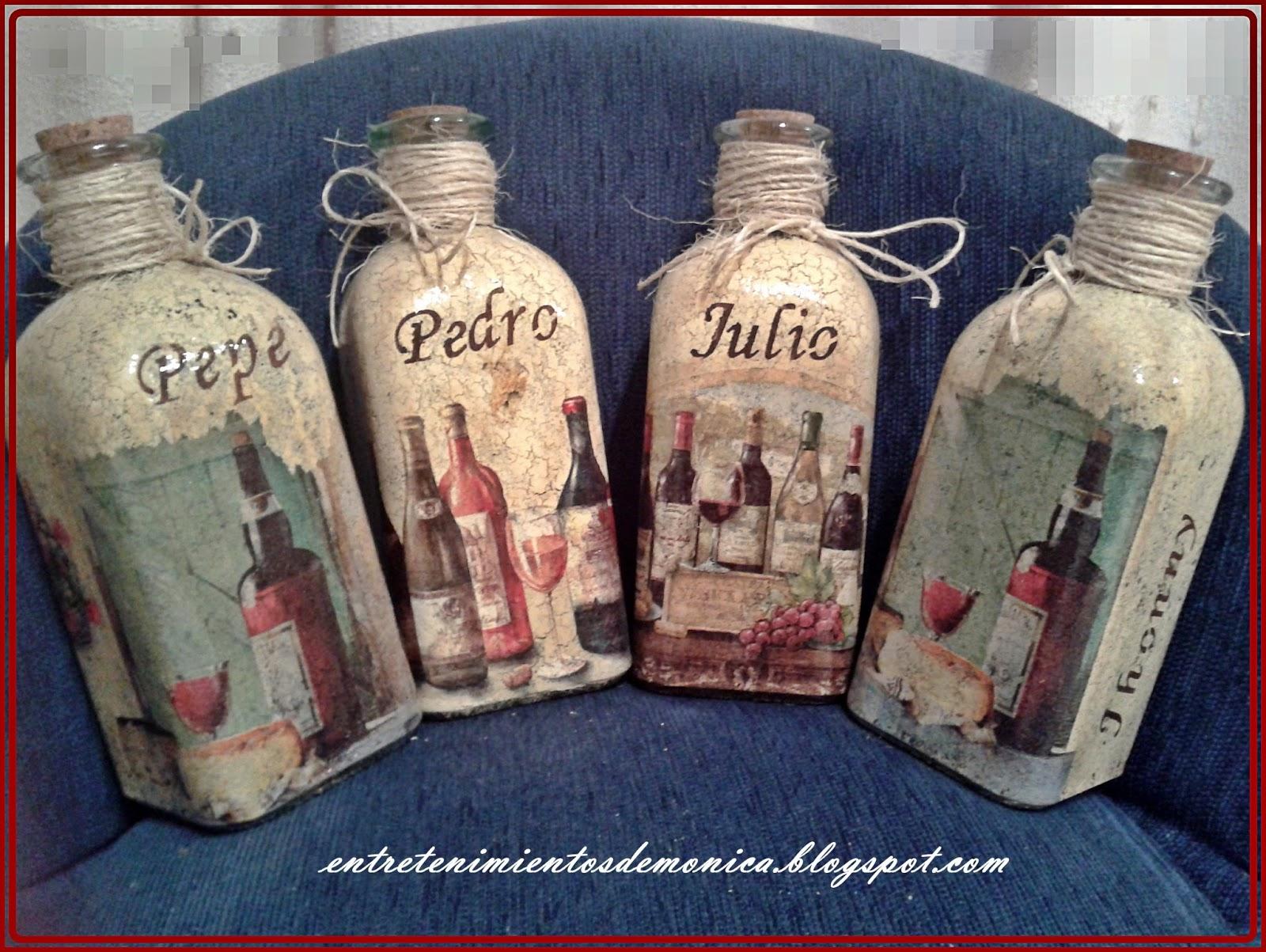 Mis entretenimientos botellas personalizadas para pap - Botellas de vidrio para regalo ...