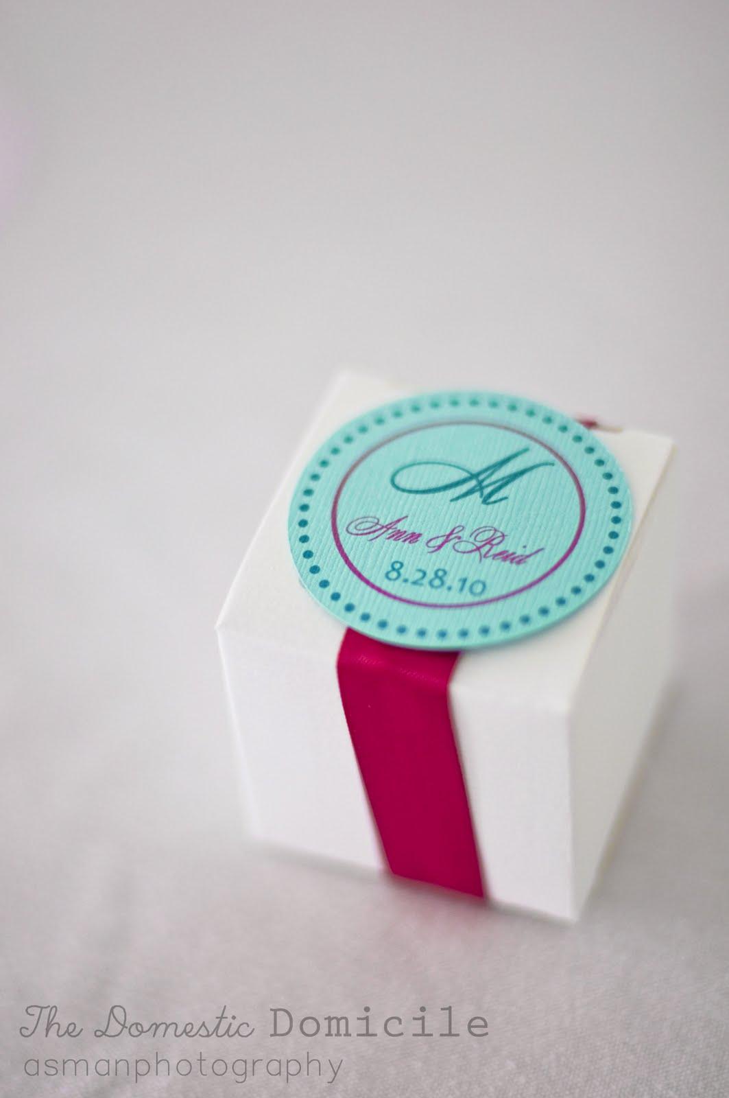 DIY Wedding Revisited: Favor Box Truffels |The Domestic Domicile