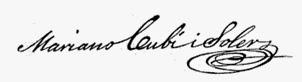 Mariano Cubí i Soler - Signatura