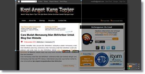 membuat screen shot halaman web