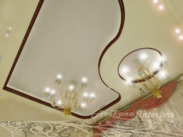 modern heart shaped false ceiling design with lights