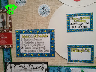 Star and Snowflake Frame for Snowman Bulletin Board
