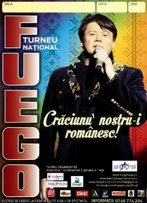 """FUEGO - Turneul Național de Sărbători 2014 """"Crăciunu' nostru-i românesc!"""", 8-22 decembrie"""