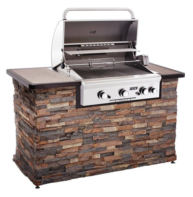 Home products american outdoor grill brand 30 built in for Gas grill tops outdoor kitchen