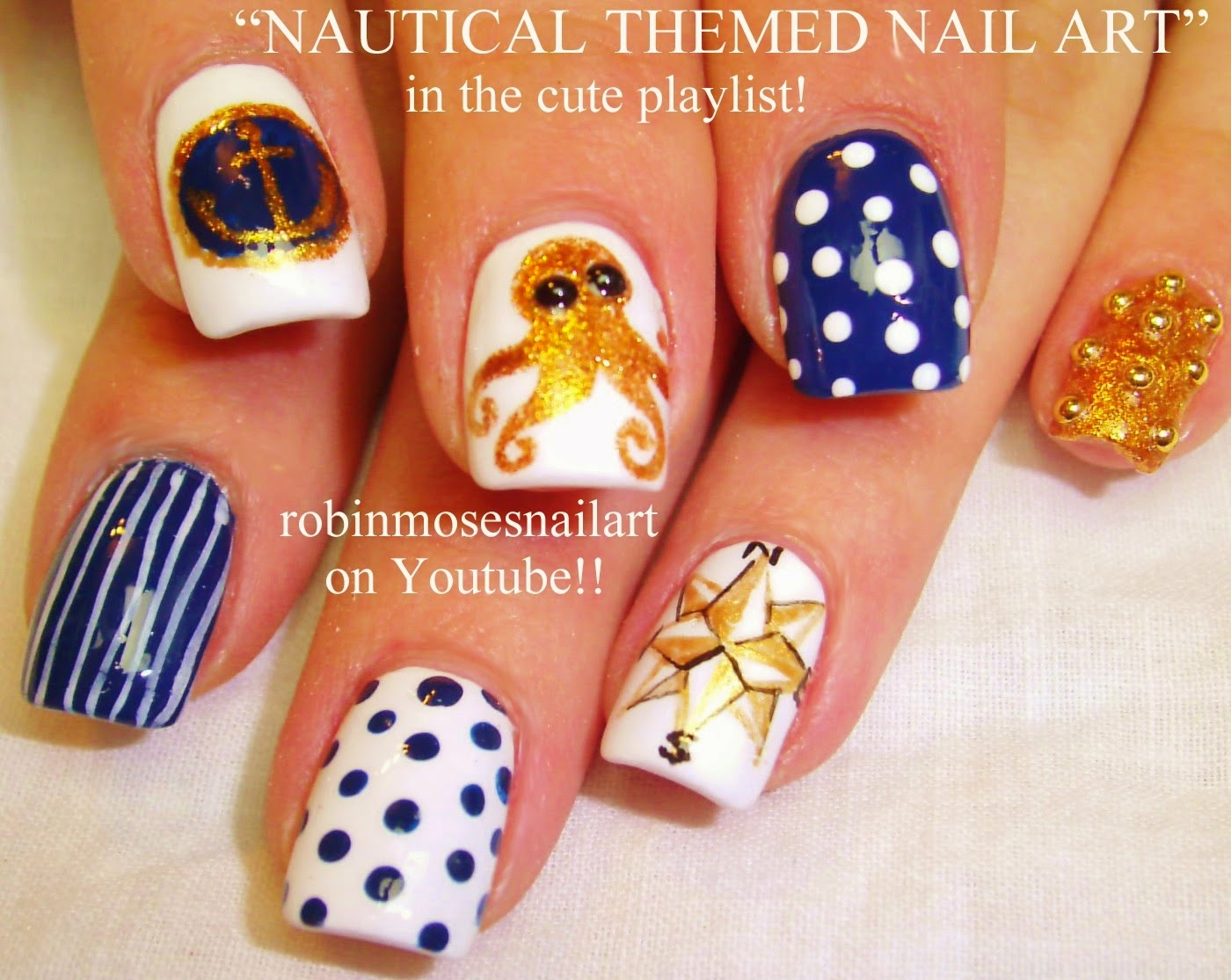 Robin moses nail art nautical nails sailor girl nails nail robin moses nails sailor jerry vintage pin prinsesfo Images