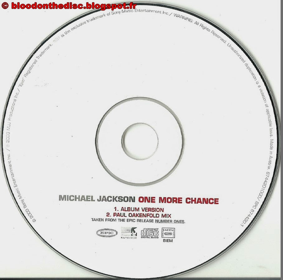 One More Chance CD Single