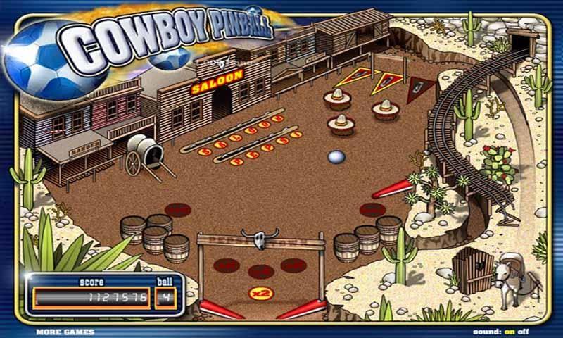 Онлайн игра Pepsi Pinball - Пинбол от Пепси (Pepsi) в стиле Дикого Запада с хорошей графикой и звуком