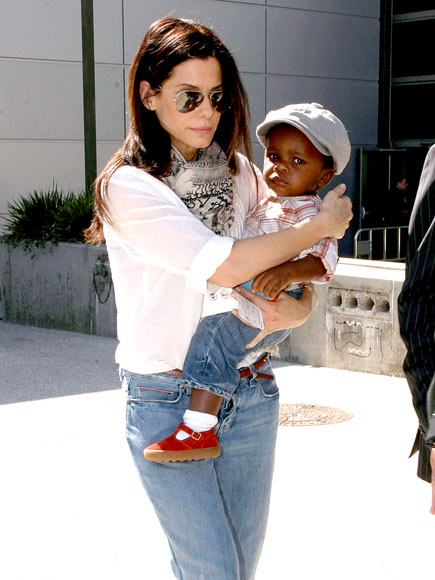 Spotted: Sandra Bullock And Baby Louis!