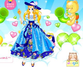 Juego de vestidos de princesas