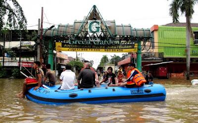 green garden banjir