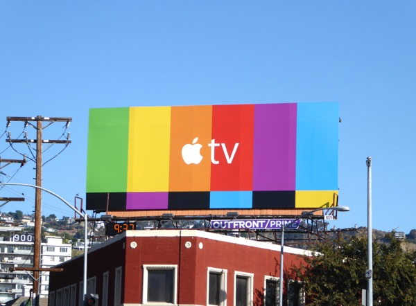 Apple TV testcard billboard