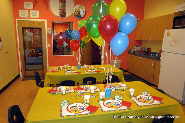 One Cute Nursery Caillou Birthday Party