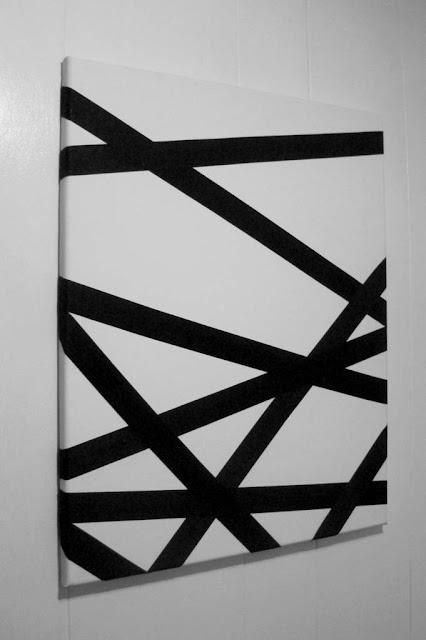 9808 diy tape art for Diy canvas art black and white