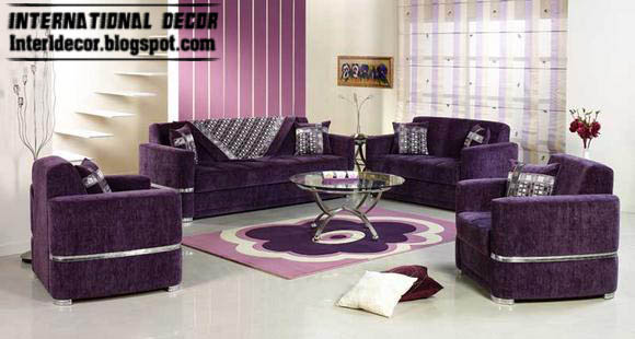 Turkish Living Room Design Ideas With Stylish Purple Furniture Interior  Design