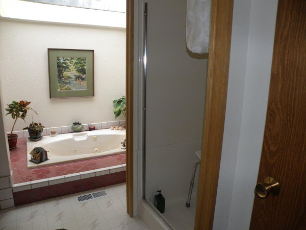 Before remodel to modify shower for wheelchair use