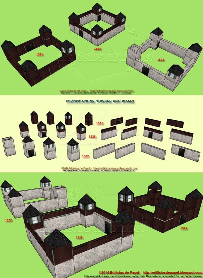 Muros y Torres, nuevas fortificaciones