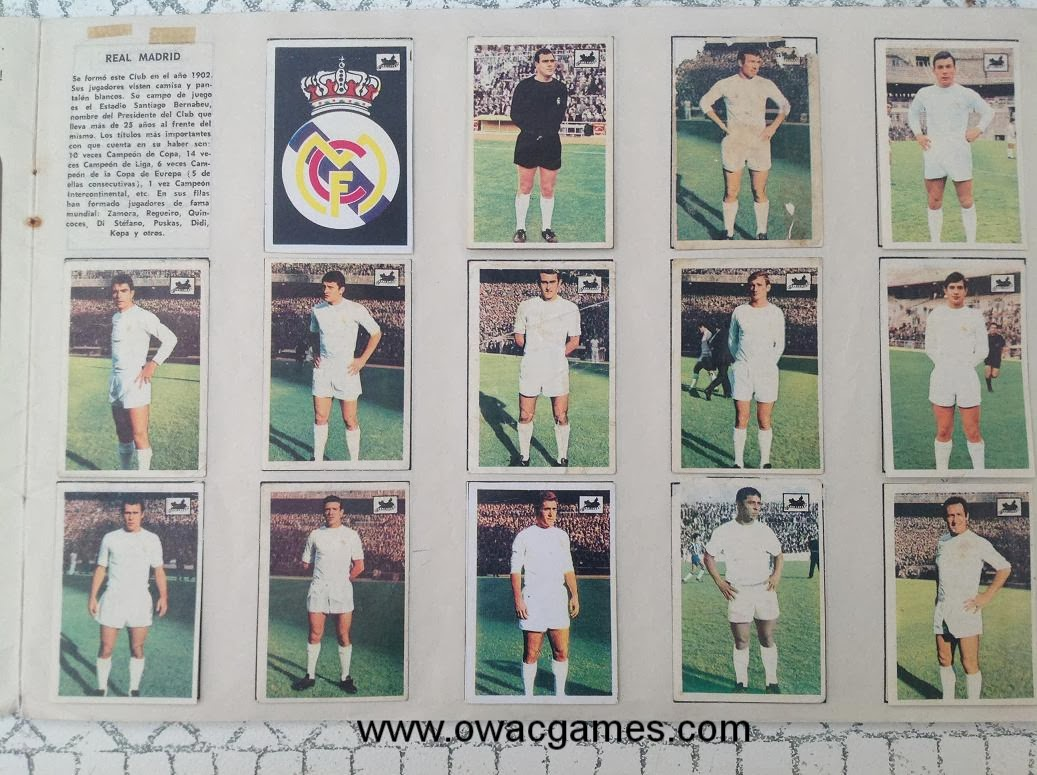 Real Madrid 1969-70 Chocolates La Cibeles