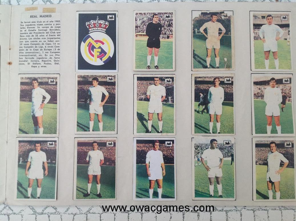 Real Madrid 1969-70 Chocolates La Cibeles