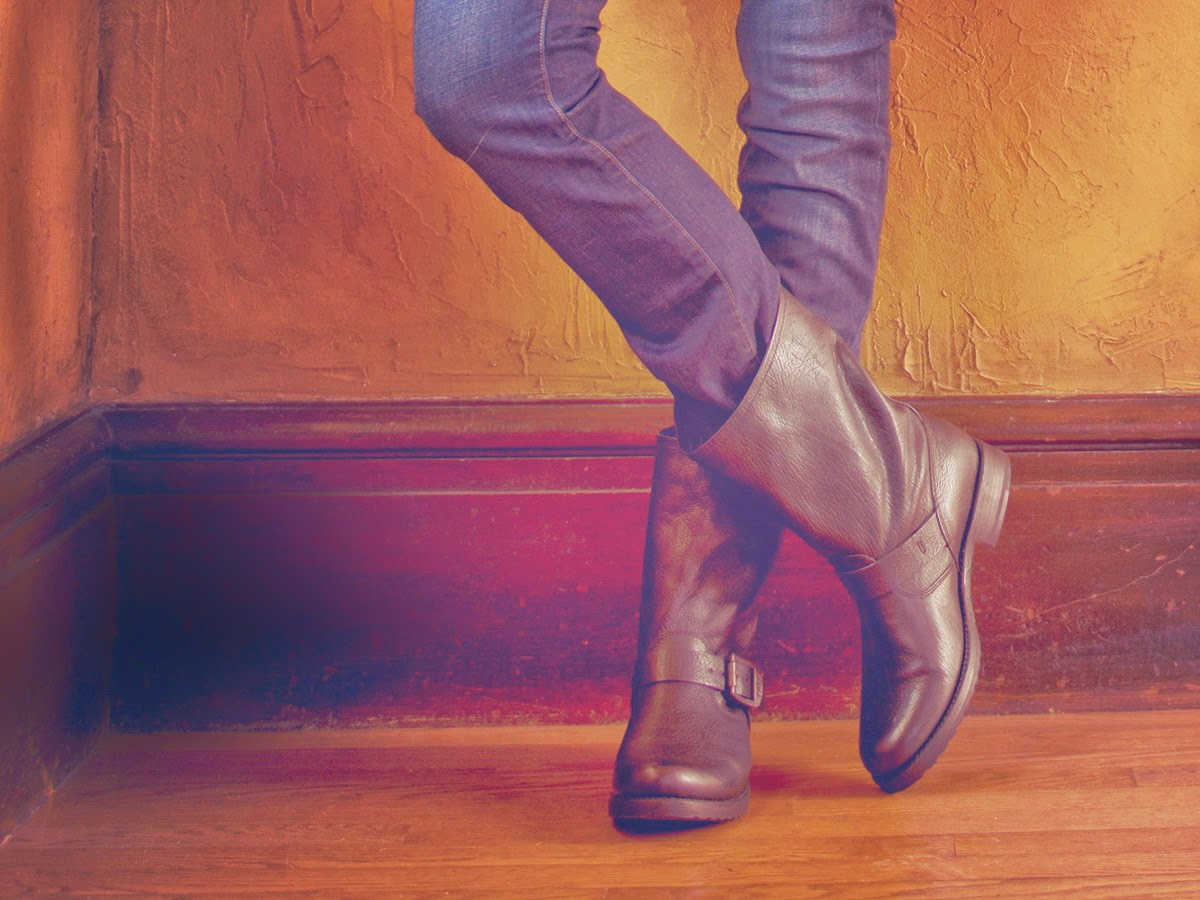 Types of shoes: Frye - Tipos de zapatos: Motoqueras