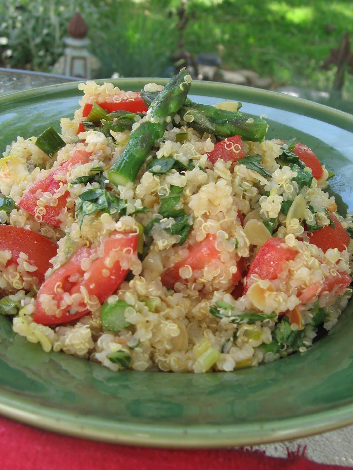 sweetsugarbean: Quinoa Salad with Asparagus, Leeks, Fresh Basil and ...