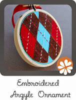 handmade holiday ornament tutorial christmas DIY embroidery