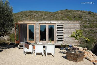 Casa prefabricada contemporánea de madera en España