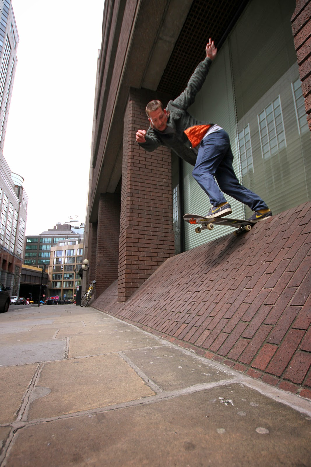old skateboarder jamie harrison back tail london street skating copyright 2013 scott madill