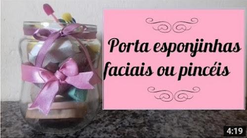 Diy: Porta esponjinhas faciais ou pincéis. #dicadeorganização #dicadedecoração2