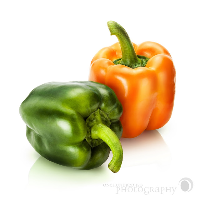 Bell Pepper Green and Orange