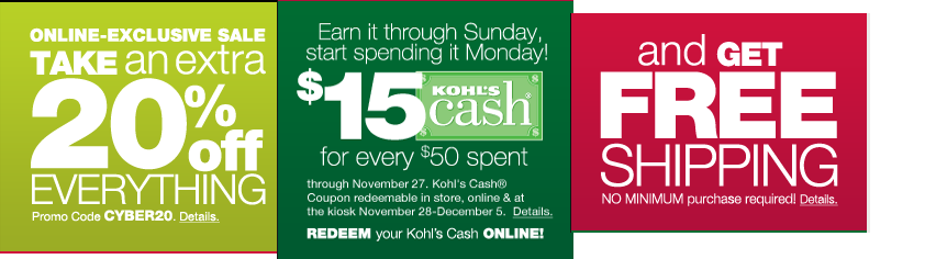 Does anyone have a free shipping code that you don't have to spend $75 to get the deal? Posted by sassycat I'm looking for a free shipping code and 30% off code for Kohl's.