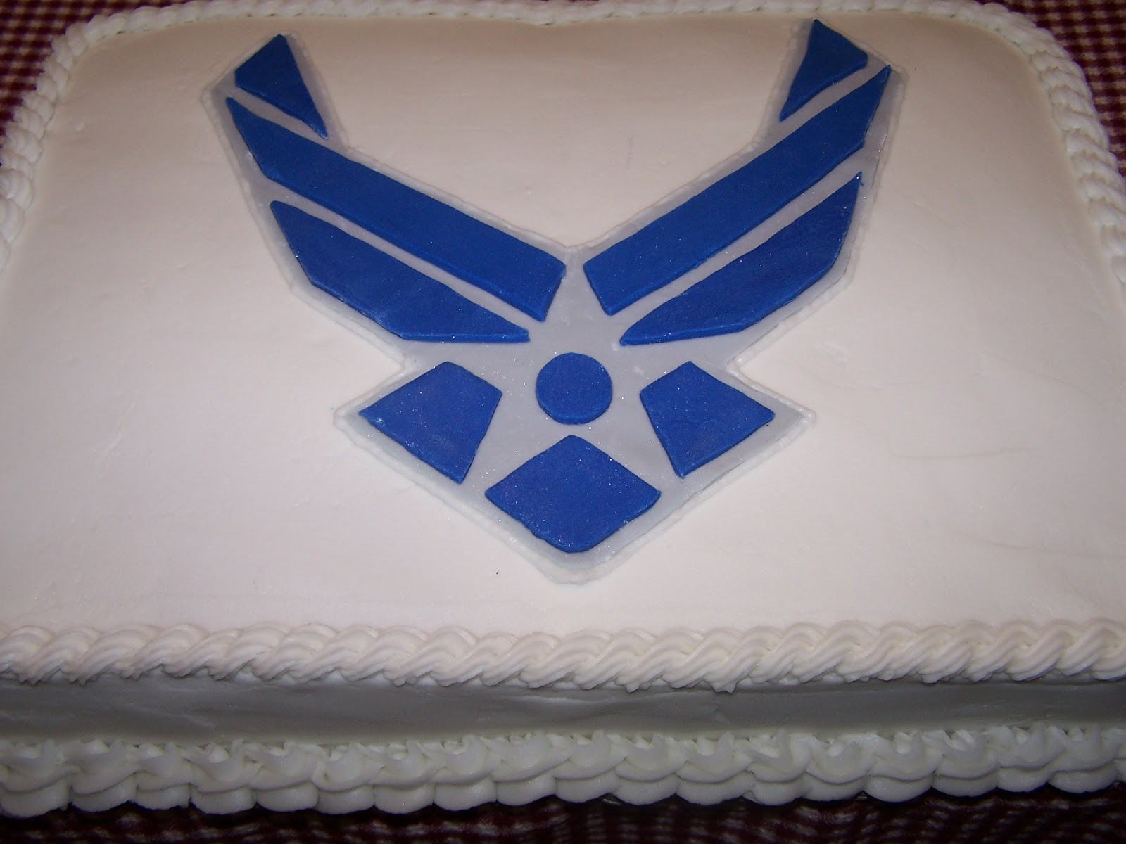 Edible aesthetics air force cake for Air force cakes decoration