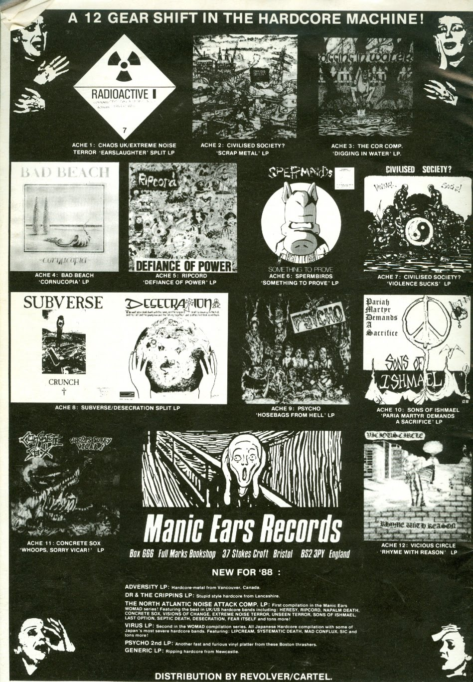LABEL ADVERT 1988