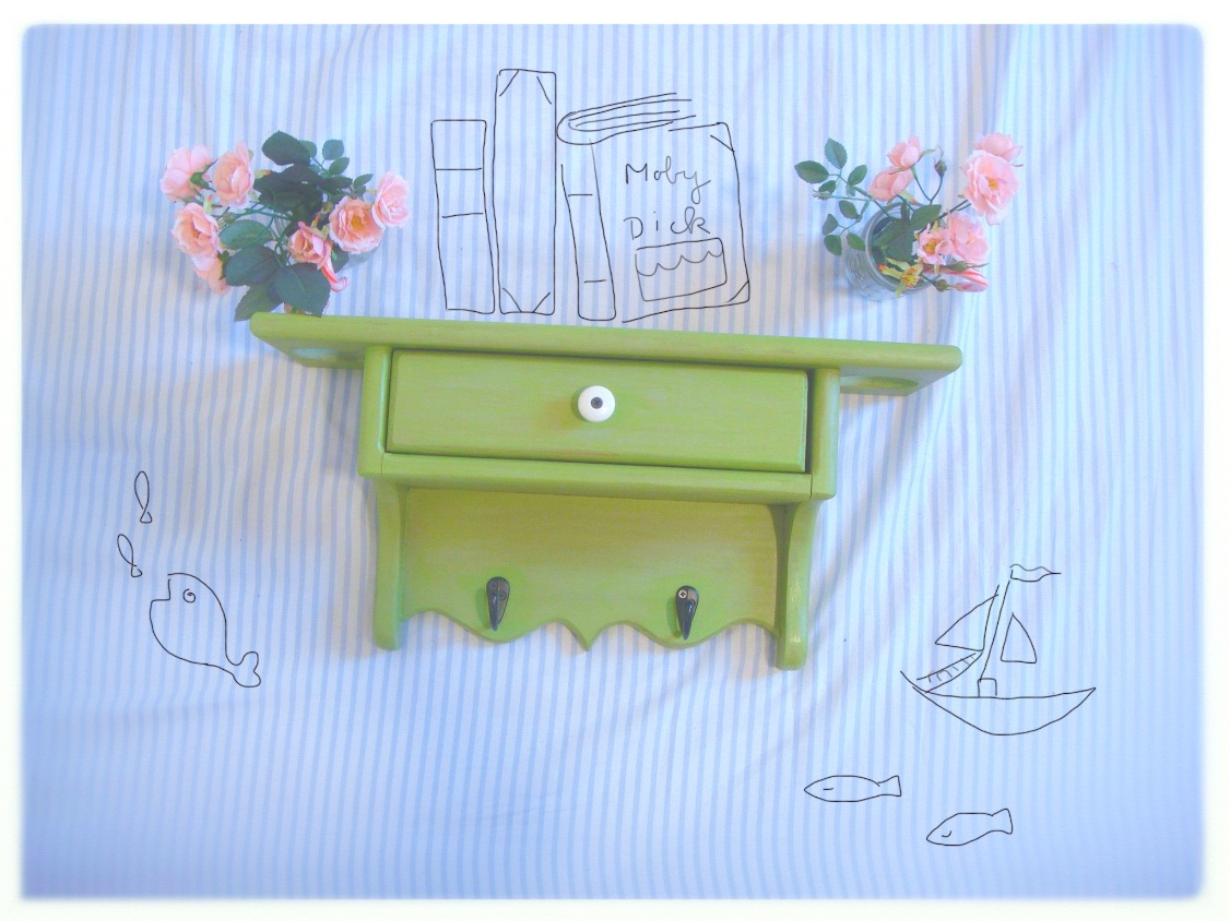Green Drawer shelf - Etsy