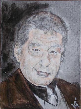 Juci'bácsi's portrait by Mrs. ret. avn. WO Agnes Valkó