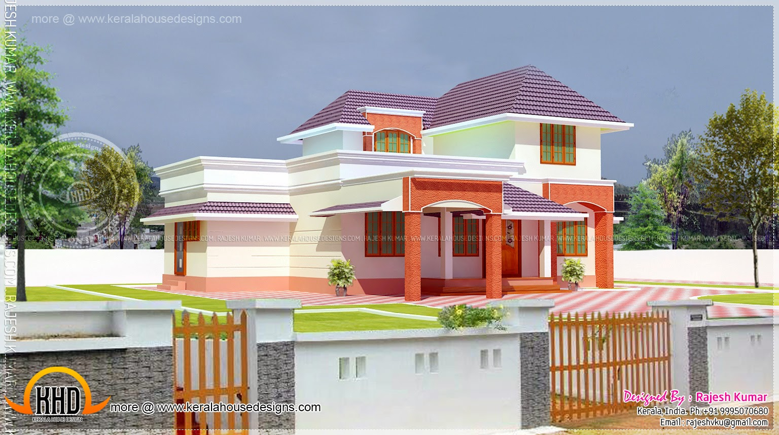 Elevation of kerala house model house interior for House elevation models