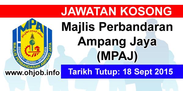 Jawatan Kerja Kosong Majlis Perbandaran Ampang Jaya (MPAJ) logo www.ohjob.info september 2015