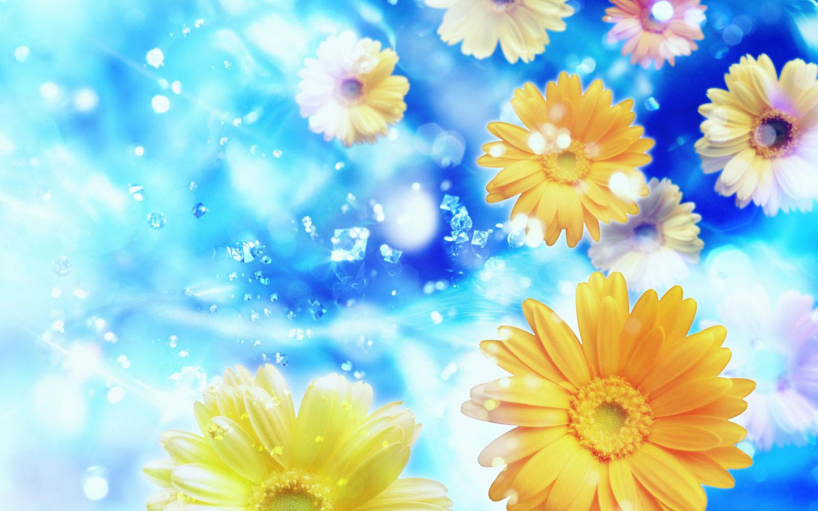 wallpapers: Windows 7 Flowers Wallpapers