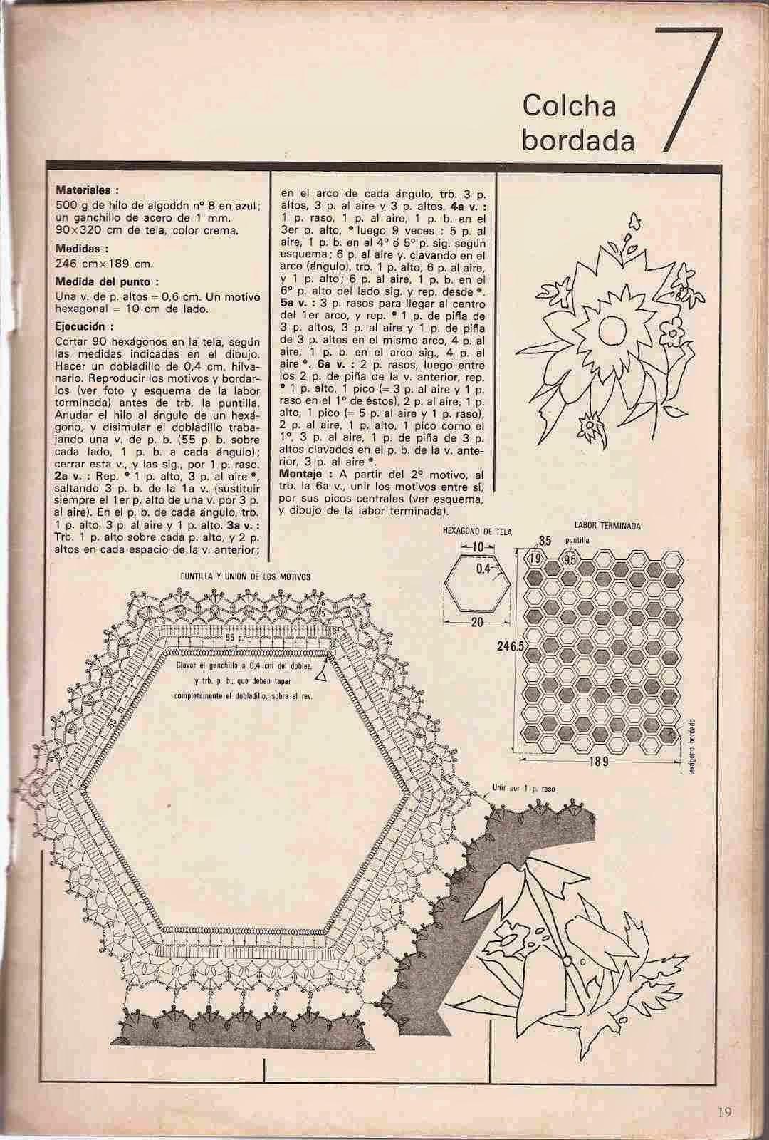 #24 Colcha Bordada a Crochet