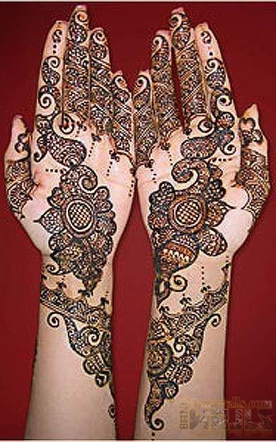 Mehndi Bridal Style : Mehndi styles for bridals wedding jewelry earrings