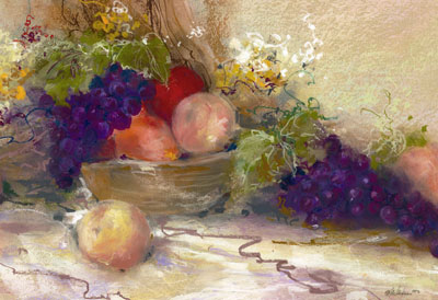 Fruit Favorites Still life in oil paste