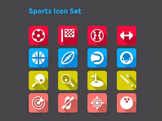 Best Free Flat Icons PSD