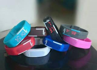 Jam Tangan Gelang LED Adidas, Nike, Puma