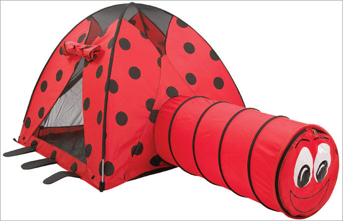Ladybug Tent and Tunnel Combination from Pacific Play tents - This is my favorite with the cute tunnel that gives a playful punch to this tent. & Bee Found: 3 Hippy Bee and Ladybug Outdoor Tents