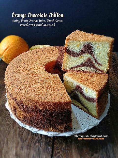 Pandan Coffee Chiffon Cake