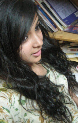 Modern chennai girl with straightened hair.